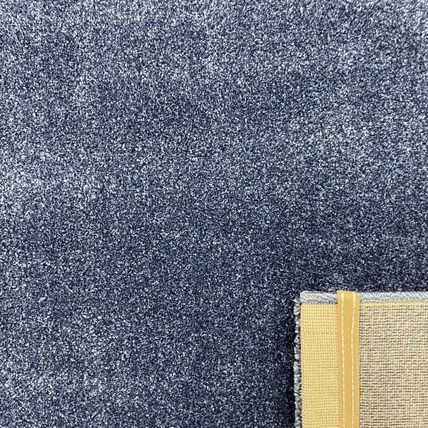 Едноцветен килим - Бела Син - детайл - 3
