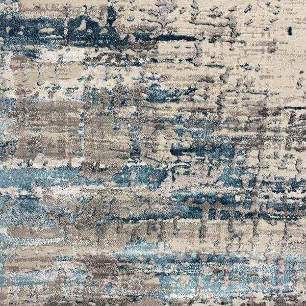 Модерен килим - Алпина 5626 Тюркоаз - детайл - 1