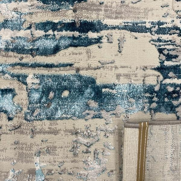 Модерен килим - Алпина 5626 Тюркоаз - детайл - 3