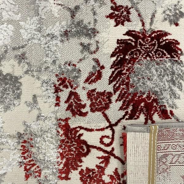 Модерен килим - Алпина 6027 Червен - детайл - 3