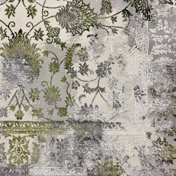 Модерен килим - Алпина 6027 Зелен - детайл - 1