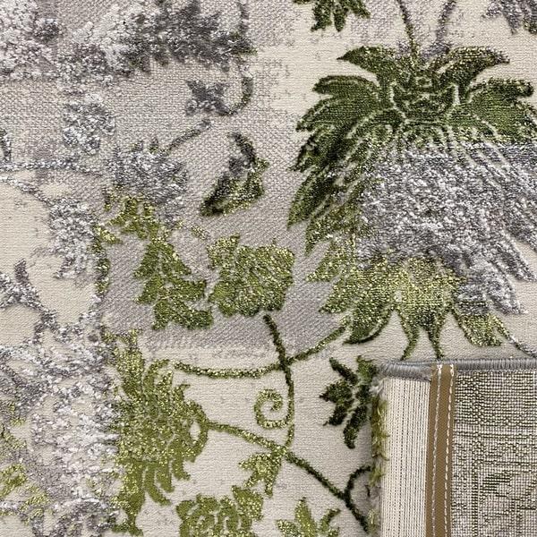 Модерен килим - Алпина 6027 Зелен - детайл - 3