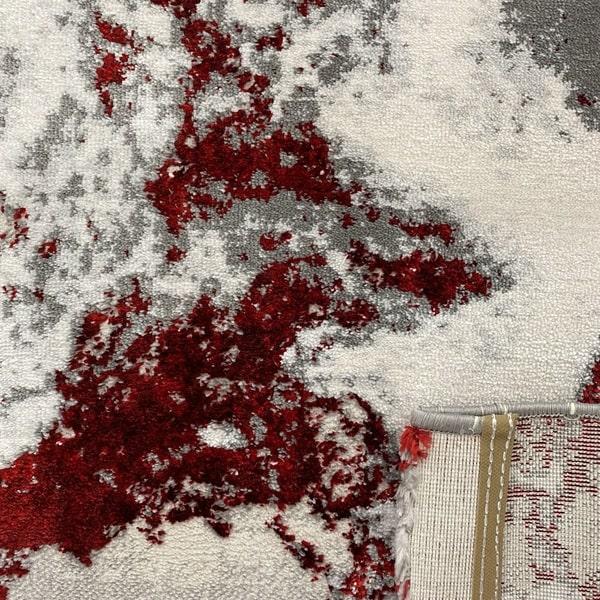 Модерен килим - Алпина 6075 Червен - детайл - 3