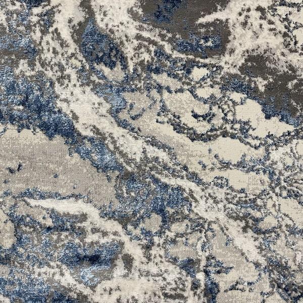 Модерен килим - Алпина 6075 Син - детайл - 1