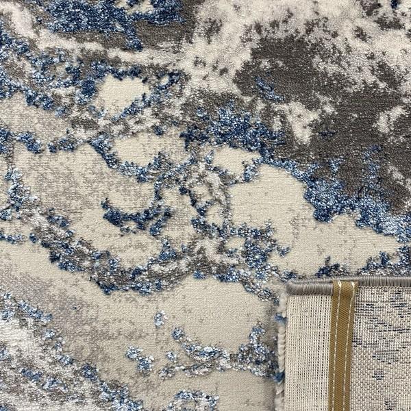 Модерен килим - Алпина 6075 Син - детайл - 3