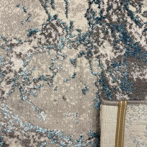 Модерен килим - Алпина 6075 Тюркоаз - детайл - 3
