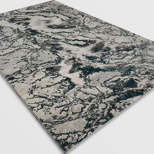 Модерен килим - Алпина 6075 Тюркоаз