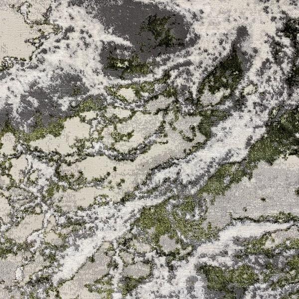 Модерен килим - Алпина 6075 Зелен - детайл - 1