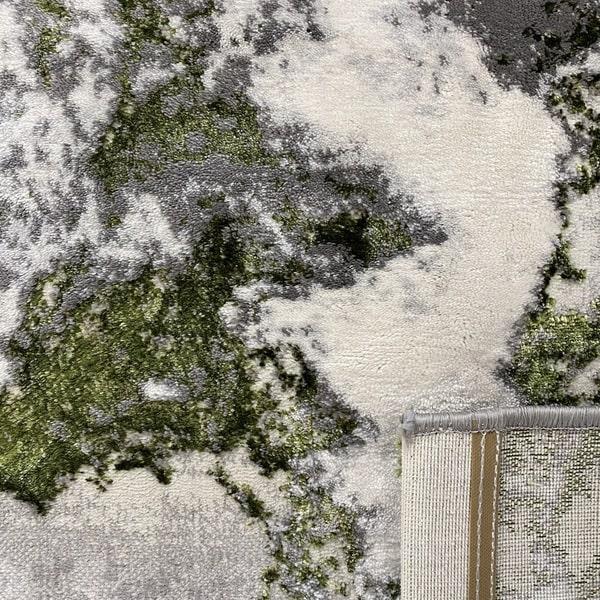 Модерен килим - Алпина 6075 Зелен - детайл - 3
