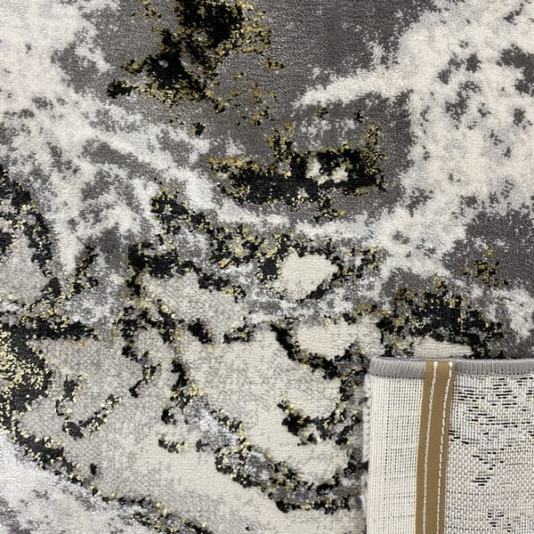 Модерен килим - Алпина 6075 Златен - детайл - 3