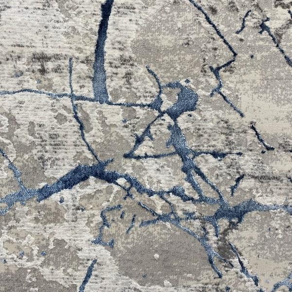 Модерен килим - Алпина 6093 Син - детайл - 1