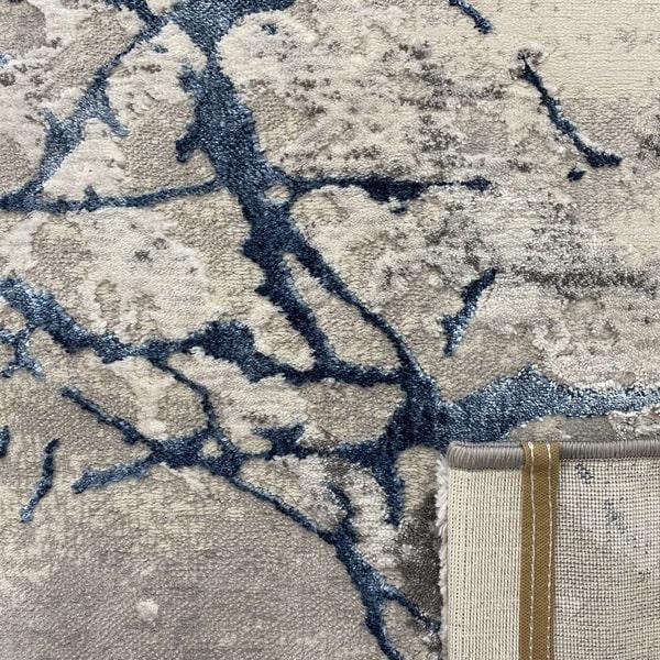 Модерен килим - Алпина 6093 Син - детайл - 3