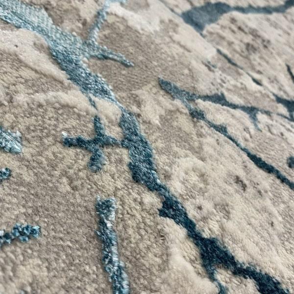 Модерен килим - Алпина 6093 Тюркоаз - детайл - 2