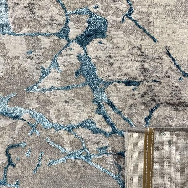 Модерен килим - Алпина 6093 Тюркоаз - детайл - 3