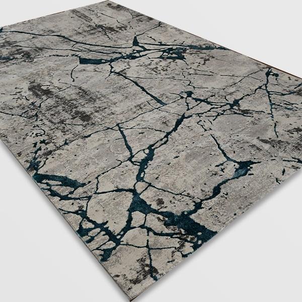 Модерен килим - Алпина 6093 Тюркоаз