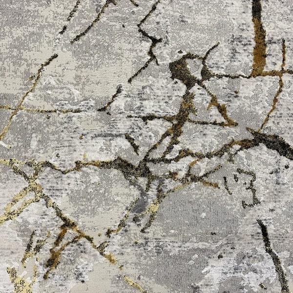 Модерен килим - Алпина 6093 Златен - детайл - 1