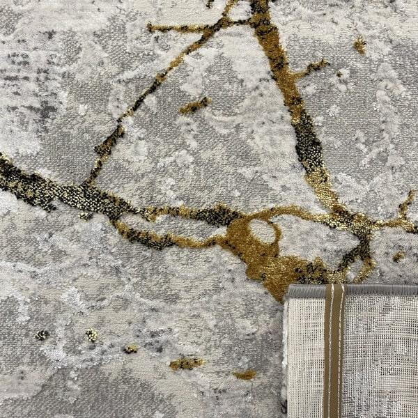 Модерен килим - Алпина 6093 Златен - детайл - 3