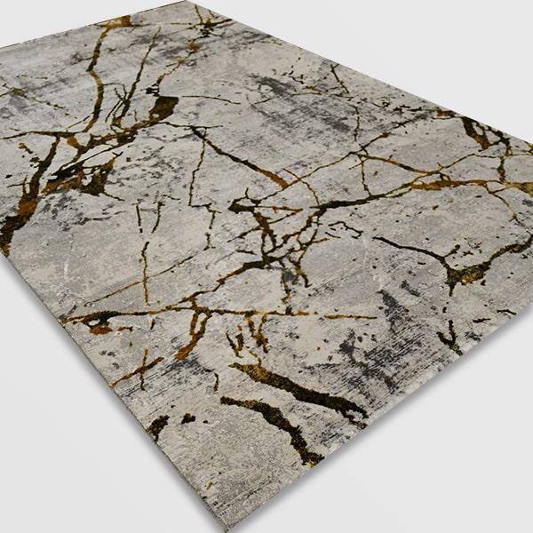 Модерен килим - Алпина 6093 Златен
