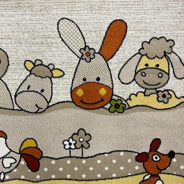 Детски килим – Найс 486 Бежов - детайл - 1