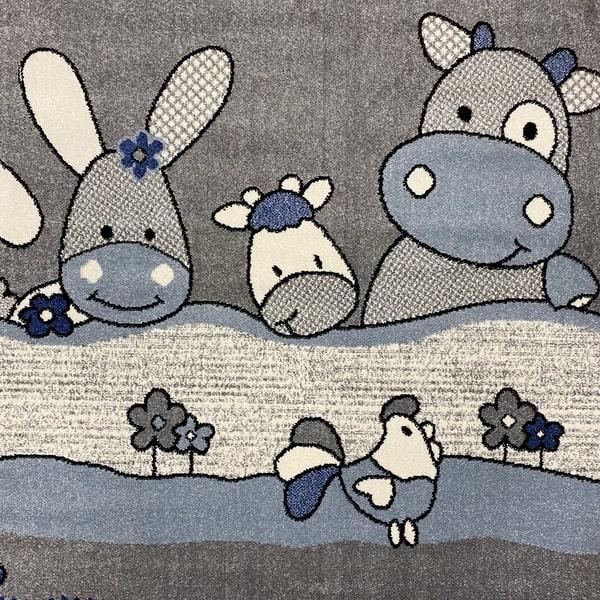 Детски килим – Найс 486 Син - детайл - 1