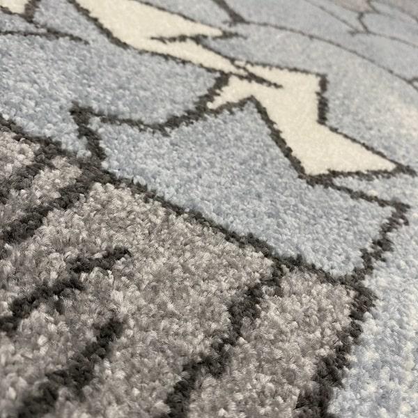 Детски килим – Найс 547 Син - детайл - 2