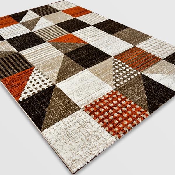 Модерен килим - Ирис 605 Бежов/Оранжев