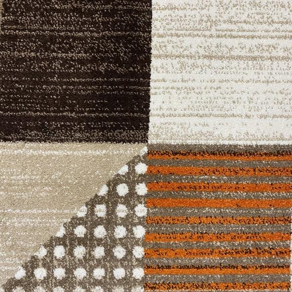 Модерен килим - Ирис 605 Бежов/Оранжев - детайл - 1