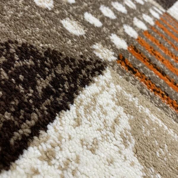 Модерен килим - Ирис 605 Бежов/Оранжев - детайл - 2