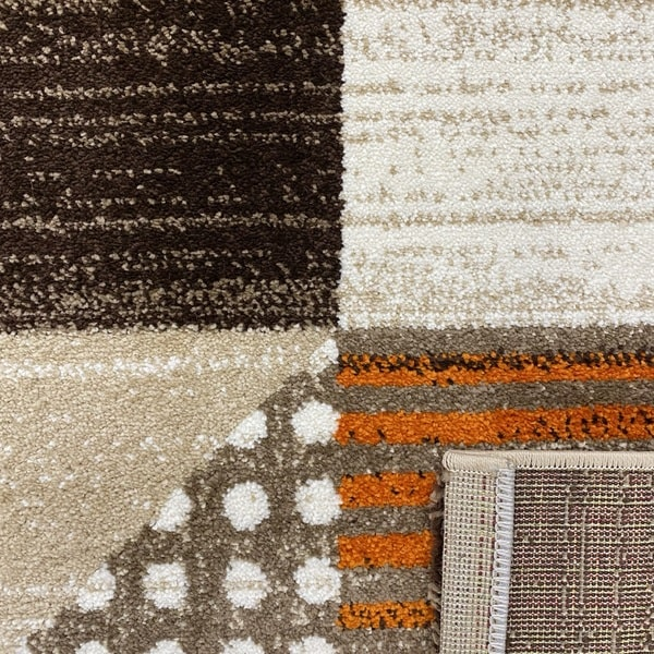 Модерен килим - Ирис 605 Бежов/Оранжев - детайл - 3