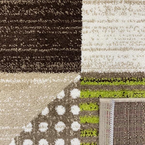 Модерен килим - Ирис 605 Бежов/Зелен - детайл - 3