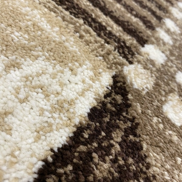 Модерен килим - Ирис 605 Бежов - детайл - 2