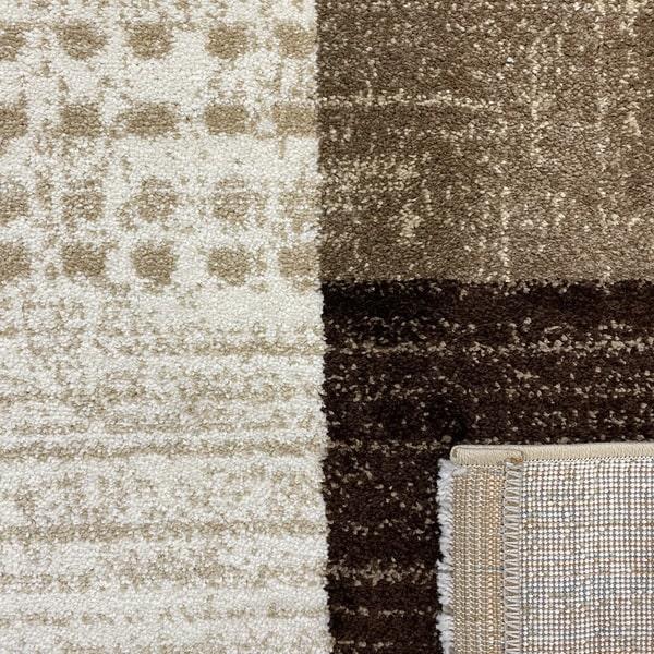 Модерен килим - Ирис 605 Бежов - детайл - 3