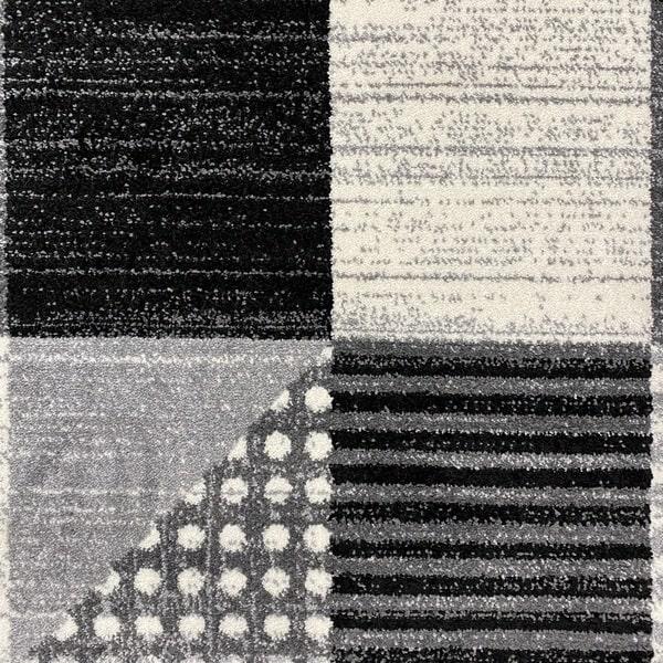 Модерен килим - Ирис 605 Сив - детайл - 1