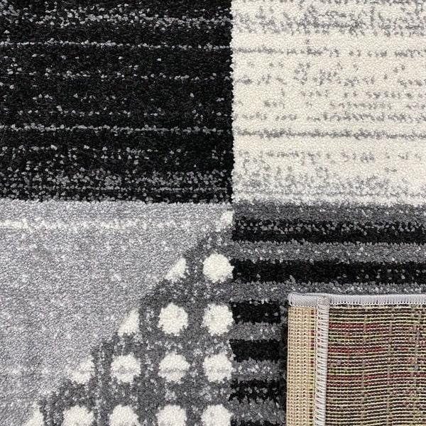 Модерен килим - Ирис 605 Сив - детайл - 3