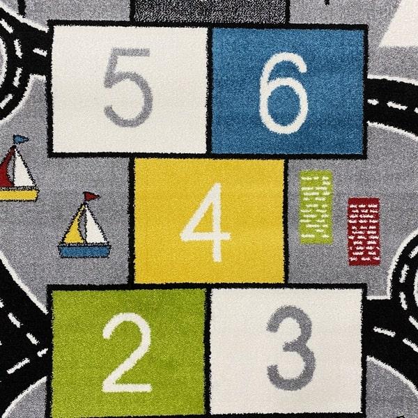 Детски килим – Найс 855 Сив - детайл - 1