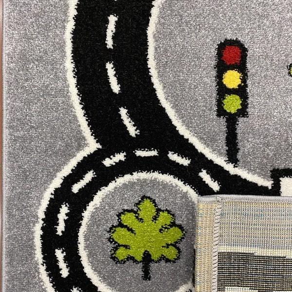 Детски килим – Найс 855 Сив - детайл - 3