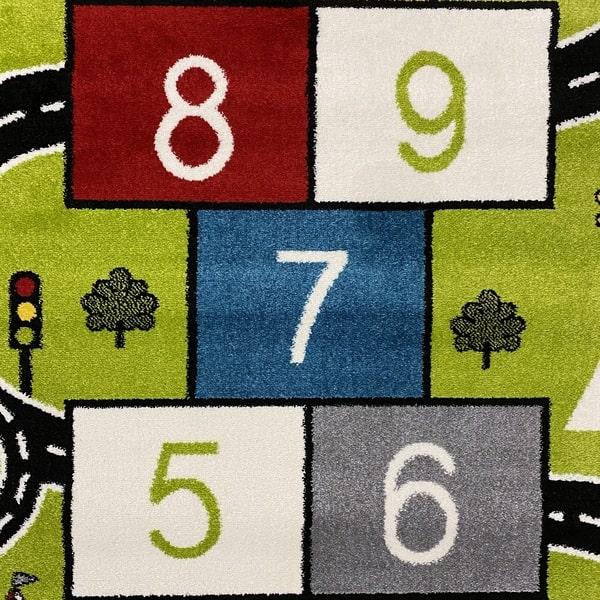 Детски килим – Найс 855 Зелен - детайл - 1