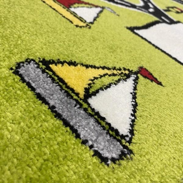 Детски килим – Найс 855 Зелен - детайл - 2