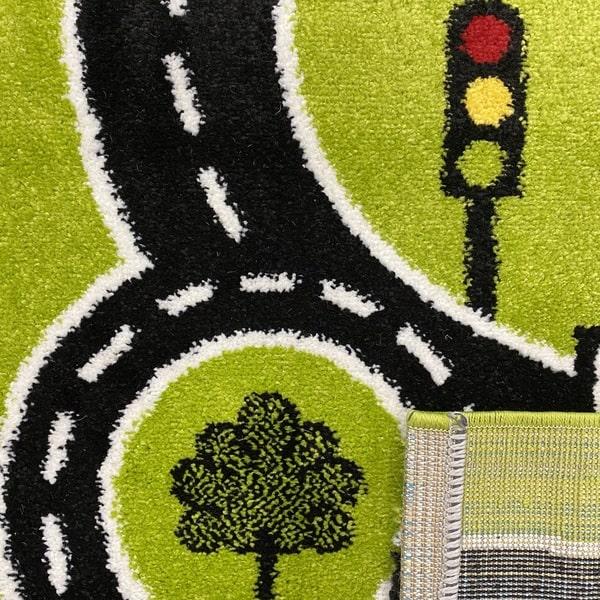 Детски килим – Найс 855 Зелен - детайл - 3