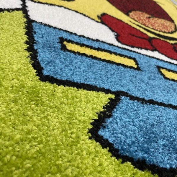 Детски килим – Найс 893 Зелен - детайл - 2