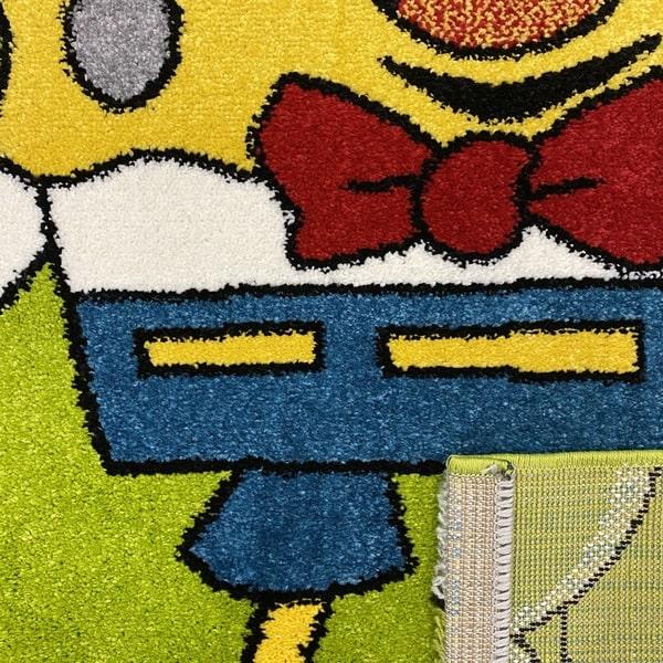 Детски килим – Найс 893 Зелен - детайл - 3