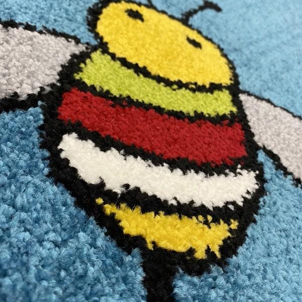 Детски килим – Найс 898 Син - детайл - 2