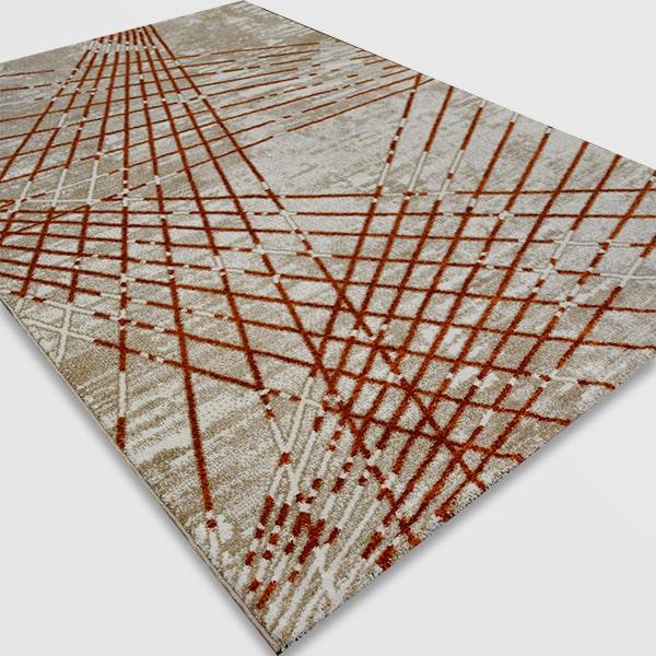 Модерен килим - Ирис 899 Бежов/Оранжев