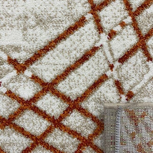 Модерен килим - Ирис 899 Бежов/Оранжев - детайл - 3