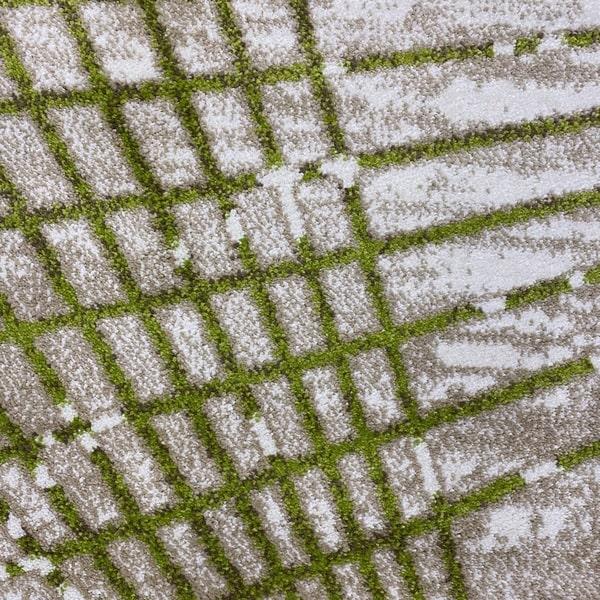 Модерен килим - Ирис 899 Бежов/Зелен - детайл - 1