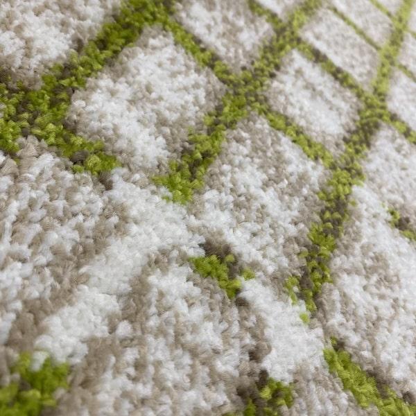 Модерен килим - Ирис 899 Бежов/Зелен - детайл - 2