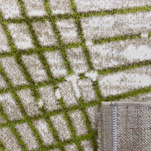 Модерен килим - Ирис 899 Бежов/Зелен - детайл - 3