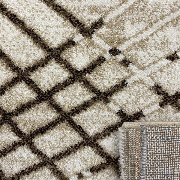 Модерен килим - Ирис 899 Бежов - детайл - 3
