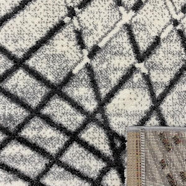 Модерен килим - Ирис 899 Сив - детайл - 3