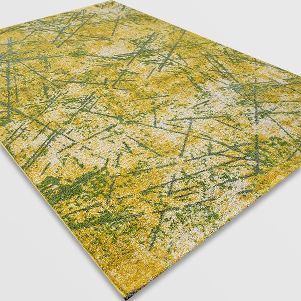 Модерен килим - Ирис 901 Жълт/Зелен